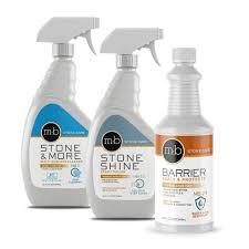 marble granite countertop sealing cleaning and polishing kit bottles