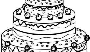 Birthday Cake Drawing Best Simple Birthday Cake Drawing At