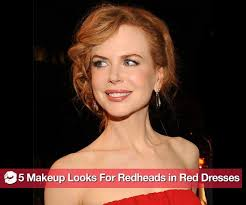 what kind of makeup to wear if you re a redhead wearing a red dress