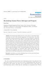 trauma theory and postcolonial literary studies pdf  trauma theory and postcolonial literary studies pdf available