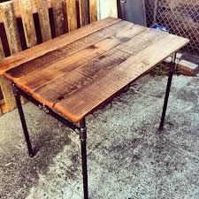 pallet projects desk. recycled pallet iron pipe desk projects