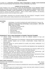 Resume Microbiology Lab Assistant Resume Best Computer