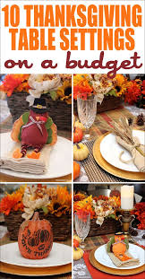 10 thanksgiving table setting ideas on a budget awesome ideas to make your table sparkle
