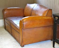 vintage art deco furniture. Vintage Art Deco French Leather Moustache Sofa Bed Furniture R