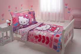 hello kitty bed furniture. Little Girl Bedroom With White Furniture And Hello Kitty Bedding Bed