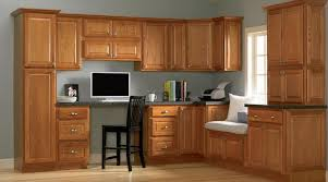 quality kitchen furniture oak cabinet with desk
