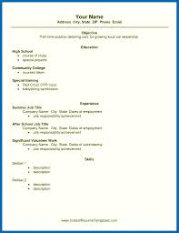 Resume For Resume For Job In School Job Resume Example For Highschool Students 17