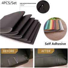 4 pcs leather repair patch kit car seat upholstery filler couch sofa furniture for