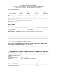 Sample Incident Report Template Network Incident Report Template