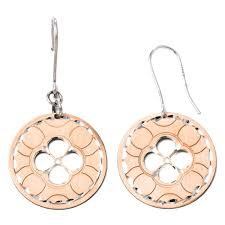 icecarats 925 sterling silver rose gold plated drop dangle chandelier earrings