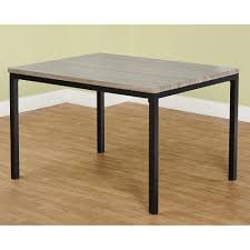 Metal And Wood Kitchen Table Jaxx Collection Dining Table Black Gray Walmartcom