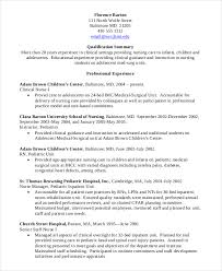 Student Nurse Resume Template Interesting Nursing Student Resume Example 28 Free Word PDF Documents