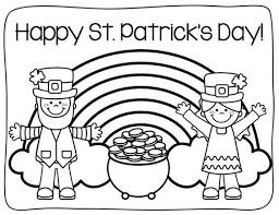 St Patricks Day Coloring Happy St Patricks Day Coloring Page Free Coloring Sheets