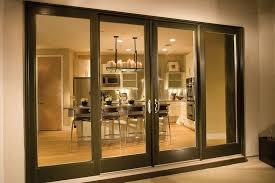 4 panel sliding patio doors modern