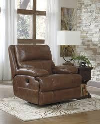Buy Ashley Furniture Lensar Nutmeg Powered Swivel Rocker Recliner