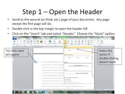 Word Document Mla Format Adding Mla Format Page Numbers To A Word Document Ppt Download