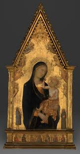 captions madonna and child with saints and angels