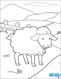Miss Sheep Happy Coloring Page This