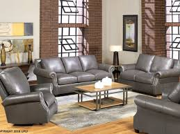 Gray leather living room furniture Blue 8655 Gray Leather Sofa Additional 10 Off Utahmade Leather Vintage Oak Furniture Furniture Living Room Leather Page Vintage Oak Furniture