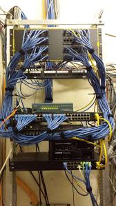 Small business cable management using #Cisco gear.