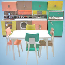 Dream Kitchen Design Custom Deluxe Reading Dream Kitchen Set Fits Barbie Dolls Vintage 48