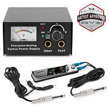 tattoo power supply tattoo analog power supply foot pedal switch and clip cord