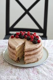 Tender Vanilla Cake With Chocolate Frosting And Berries Recipe
