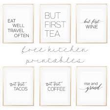 kitchen gallery wall printables free printable wall art apartment kitchen decor ideas free