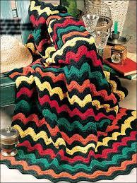 Free Crochet Afghan Patterns Classy Bright Waves Crochet Afghan Pattern