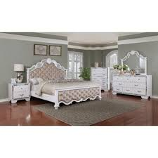 white bedroom sets. Bilbie Panel 4 Piece Bedroom Set White Sets M