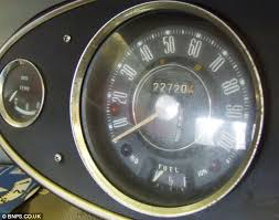 classic mini cooper found after being locked away in a garage for plenty of miles left to go the mileometer shows the car has travelled less than