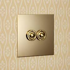 Brass Light Switch Covers Uk Uk Unlacquered Brass Two Gang Push Button Light Switch