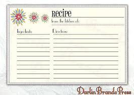 Printable Christmas Recipe Cards Printable Recipe Cards Free Template Christmas Card Templates
