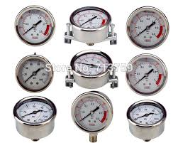 gas manometer. stainless steel pressure gauge meter manometer water gas air 60mm dia 0-1