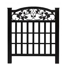 Black vinyl fence Ft Barrette Black Vinyl Fence Panel common 38in 32in Actual 3724in 32in The Runners Soul Barrette Black Vinyl Fence Panel common 38in 32in Actual