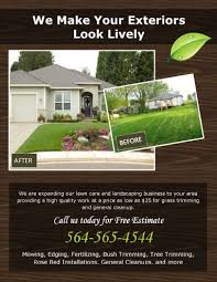 lawn care advertising templates 15 lawn care flyers free examples advertising ideas