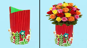 Paper Flower Base How To Make Beautiful Paper Flower Vase Paper Quilling Art