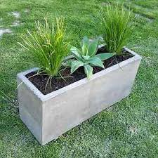 Image is loading Concrete-planter-box-large-polished-patio-trough-outdoor-