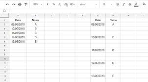 insert blank rows using a formula in