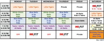 Woodbridge Classes Schedule International Martial Arts