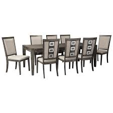extendable dining room table by signature design by ashley. signature design by ashley chadoni 9 piece contemporary rectangular table set - item number: d624 extendable dining room