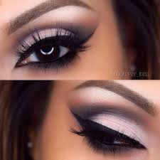 cut crease eye makeup look will go great with the sherri hill prom dress in this