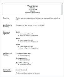 Example Simple Resume Simple Resume Templates Simple Resume Example ...