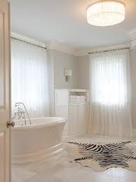 bathroom with zebra cowhide rug