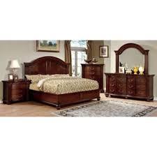 traditional bedroom furniture. Furniture Of America Vayne I 4-Piece Traditional Cherry Bedroom Set N