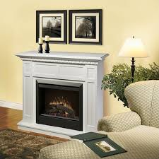 dimplex ca free standing electric fireplace in white