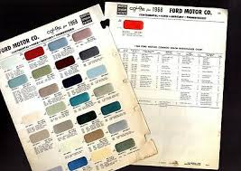 1970 Ford Mercury Lincoln Interior Color Paint Chart Sample