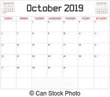 2019 October Calendar Year 2019 Planner An Annual Planner Calendar For The Year 2019 On