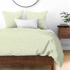 polka dots lime green spoonflower