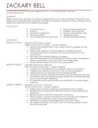 Carpenter Assistant Sample Resume Magnificent Example Cv Construction Project Manager Resume Template Labourer For